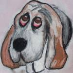 """Vincent the Dog"" by janelbraggfineart"