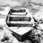 """Beached Boat II BW"" by Cynthia_Burkhardt"