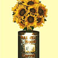 Sunflowers in Coffee Can Art Prints & Posters by Dave Gafford