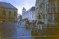 Rain in Buda, outside the old Cathedral
