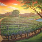"""Vineyard Landscape"" by BradSmithArt"