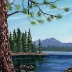 """Trees and Lake"" by tandres"