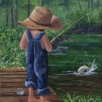 """Young Boy Fishing"" by tandres"
