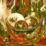 """Christmas Bowl of Circles"" by tricia"