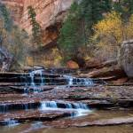 """Cascades of the Left Fork in Zion"" by HiddenLightPhotography"