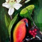 """""""Strange orange bird"""" by Dorli"""