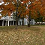 """Fall Leaves on The Lawn, University of Virginia, U"" by fineartphoto"