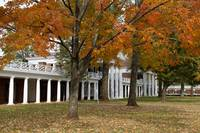 The Lawn During Fall, University of Virginia