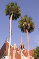 University of Florida Auditorium and Palm Trees