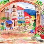 """Tuscan archway II"" by arlene72"