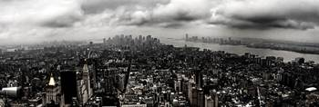 cloudy nyc panorama