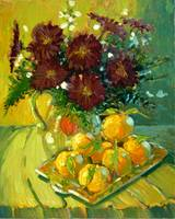Chrysanthemums and Tangerines