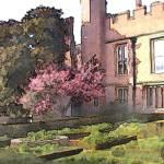 """Hampton Court Side Yard"" by aglaeafinearts"