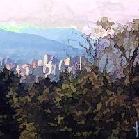 City On A Hill Art Prints & Posters by Lorranna Allen