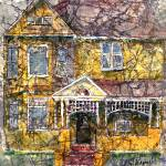 """Yellow Batik House"" by awagner"