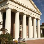 """Wait Chapel Columns, Wake Forest University"" by fineartphoto"