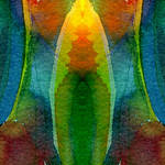 """""Yoga Flower"" #02.1 08 03 07"" by achimkrasenbrinkart"