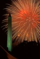 Fireworks Over The Washington Monument, 4th of Jul