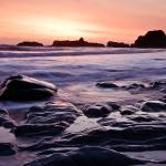 """Beach 4 Sunset near Kalaloch - Olympic National Pa"" by markgoff"