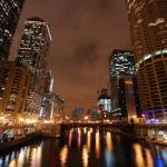 """Chicago river at night"" by nicelysighted"