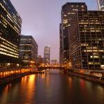 """Chicago river twilight"" by nicelysighted"