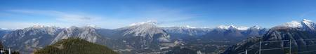 banff from sulpher mountain panoramic