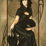 Vintage art: Queen of Spades