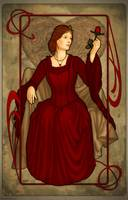Poker Art Nouveau: Queen of Hearts