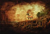 Lime Kiln Lighthouse - Antiqued