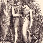 """The Lovers, from 1881 book Poetry of Flowers"" by arcaniumantiques"
