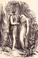 The Lovers, from 1881 book Poetry of Flowers