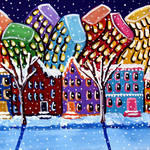 """City Neighborhood In Winter"" by reniebritenbucher"