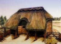 Thatched Barn of Old