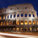 """Colosseum Nighttime Rome close up"" by clarka"