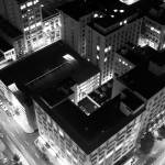 """Vancouver Street At Night Black And White"" by clarka"