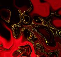 Zizzago Art Abstract Red Gold Flame 3