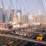 """Taxi on Brooklyn Bridge, New York City"" by fineartphoto"