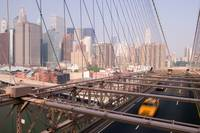 Taxi on Brooklyn Bridge, New York City