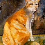 """Tommy Cat Stunning Cat Potrait - American Shorthai"" by GinetteCallaway"
