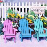 """Potting Shed Chairs"" by MCARTZ"