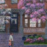 """Philadelphia Street in Spring"" by susansartgallery"