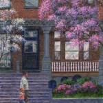 """Philadelphia Street in Spring"" by susansartgallery"