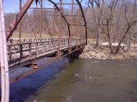 Bridge over Baraboo,WI river