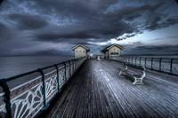 Dusk On The C19th Pier in Penarth, Wales