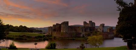 Caerphilly Castle Panoramic