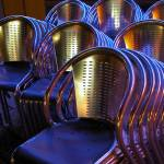 """Chairs at Cardiff Bay Scallops"" by ajcronin"