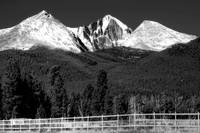 Long's Peak in BW