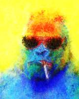 Suspiciously Colorful Gorilla
