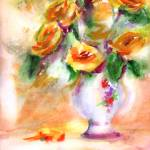"""Yellow Roses Watercolor by Ginette Callaway"" by GinetteCallaway"