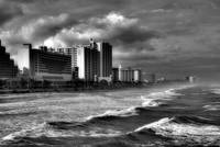 Daytona Surf and Skyline in BW
